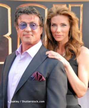 Sylvester Stallone and Jennifer Flavin, 2