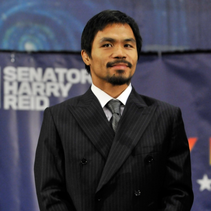 "Harry Reid Attends A ""Get Out The Vote Early"" Rally With Boxer Manny Pacquiao"
