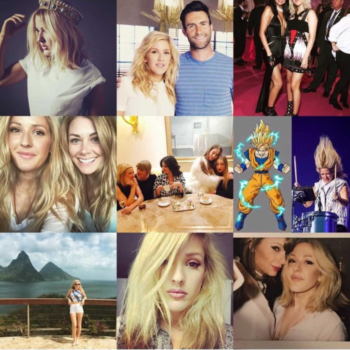 Ellie Goulding Instagram Post Adam Levine Taylor Swift Selena Gomez Instagram Best Nine