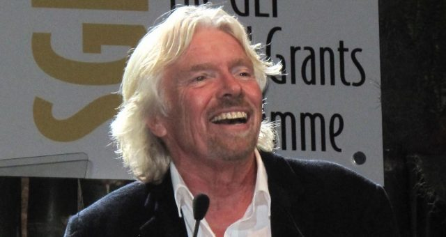 Richard Branson Twitter Image British Virgin Islands Flamingo