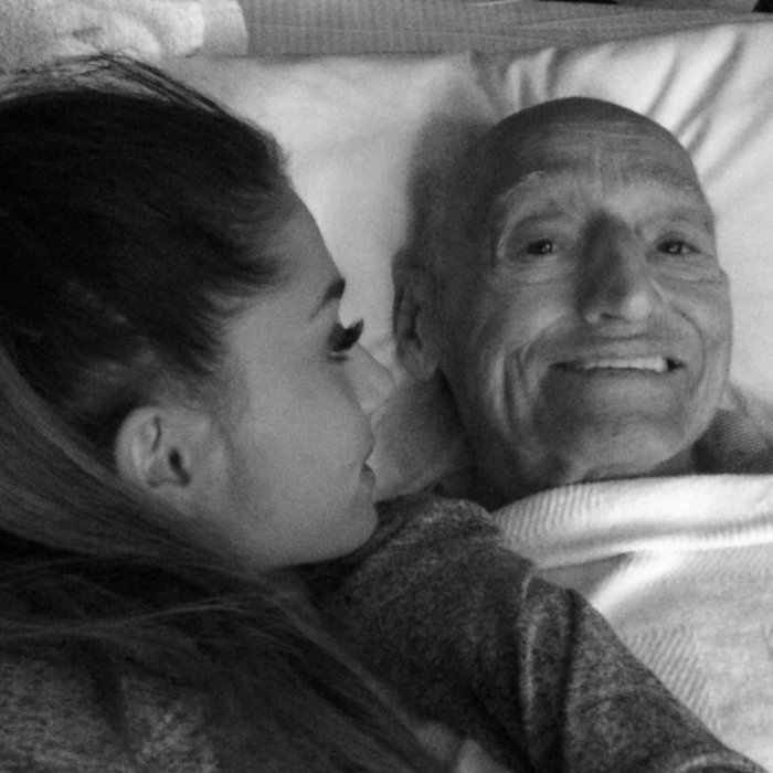 Ariana Grande Instagram Post Grandfather