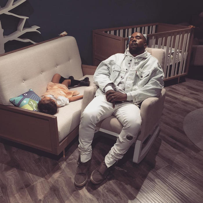 kanye West Sleeping