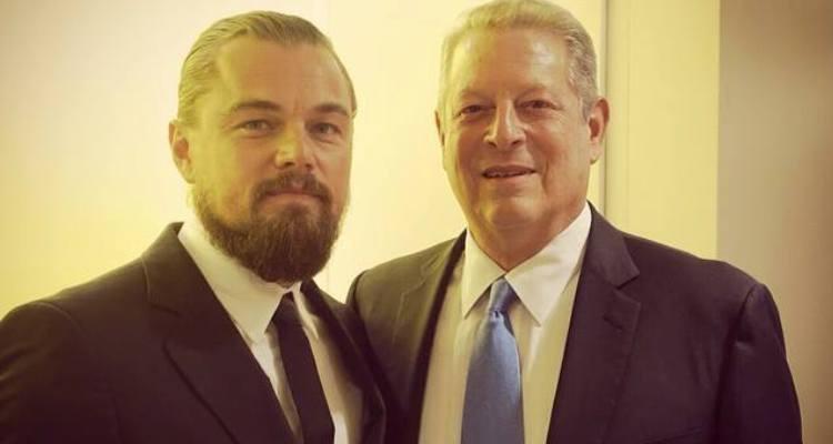 Al Gore and Leo DiCaprio