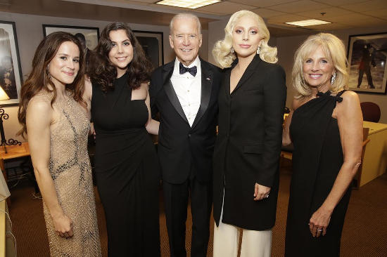 Lady Gaga Performs With VP Joe Biden