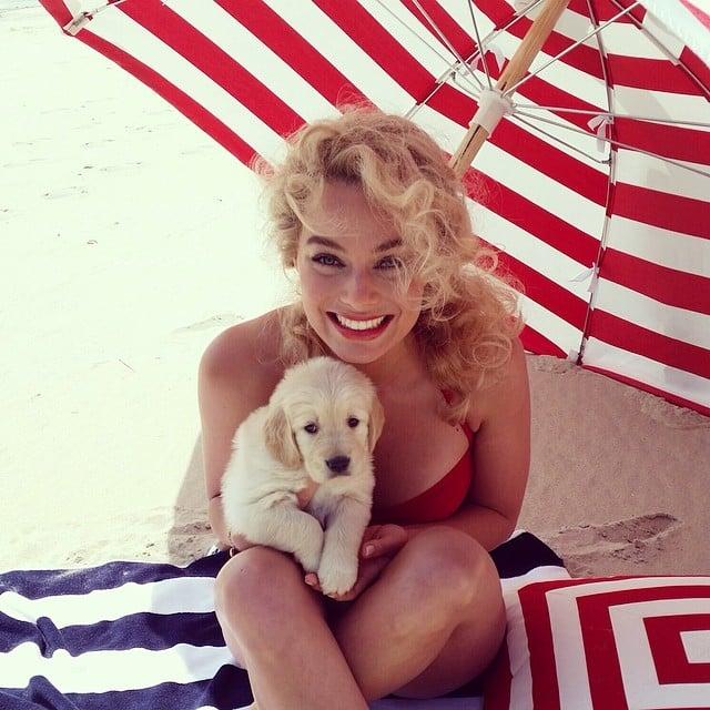 Margot Robbie Rockin the Retro Bikini 4