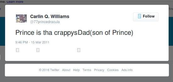 Carlin Williams Tweet 2