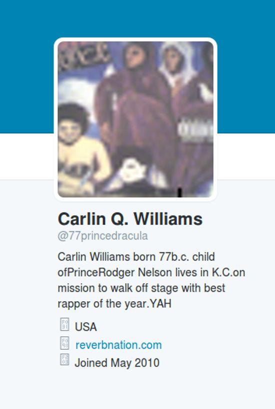 Prince Son Twitter Bio
