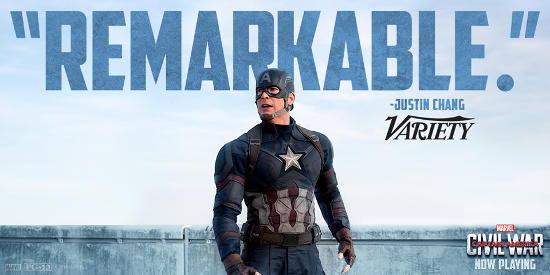Variety Review Captain America Civil War