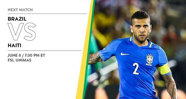 Brazil Lineup vs. Haiti