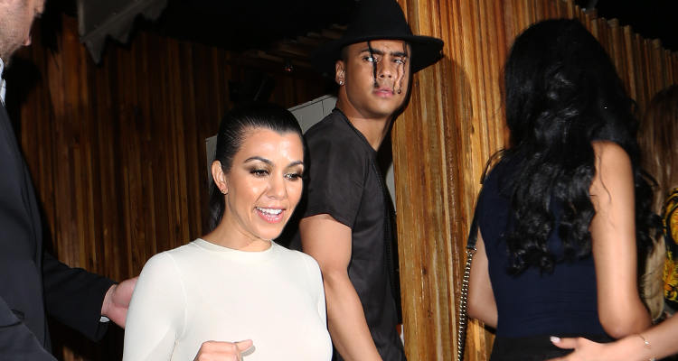 Kourtney Kardashian leaves The Nice Guy club with P. Diddys son Quincy Brown after partying together in West Hollywood