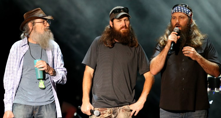 The cast of Duck Dynasty on stage at the CMA Festival in Nashville, TN