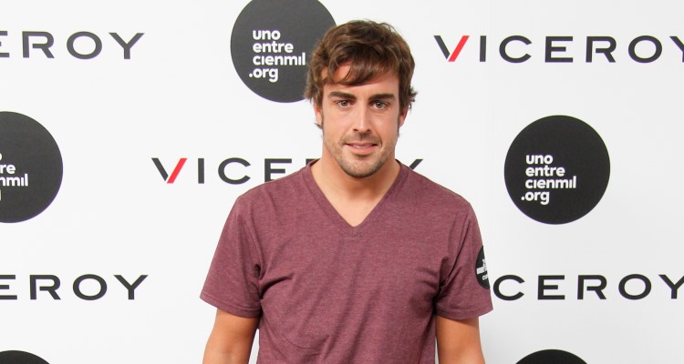Spanish F1 Driver Fernando Alonso at a Viceroy Promotion Event in Madrid, Spain