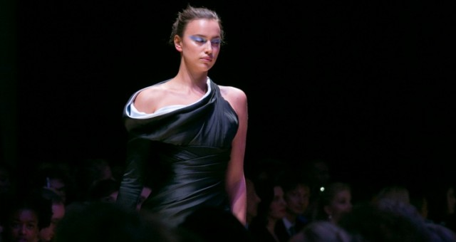 Irina Shayk Walks the Versace Show in Paris