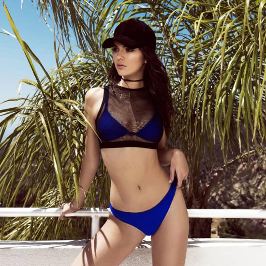Kendall Jenner hot blue bikini