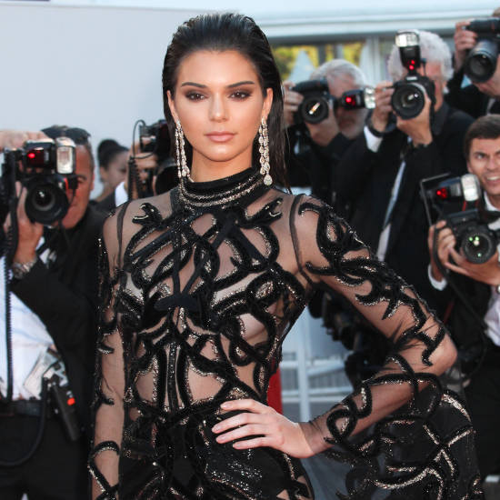 Kendall Jenner transparent hot dress