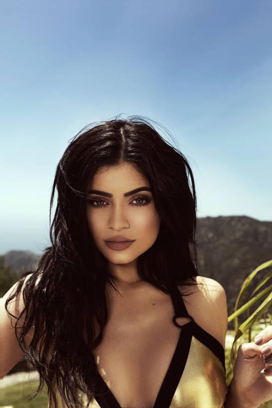 Kylie Jenner golden bikini