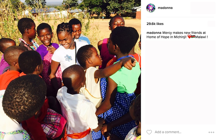 Madonna posts photos from Malawi Orphanage.