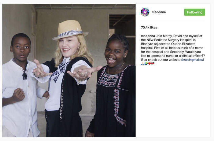 Madonna shares photos of trip to Malawi