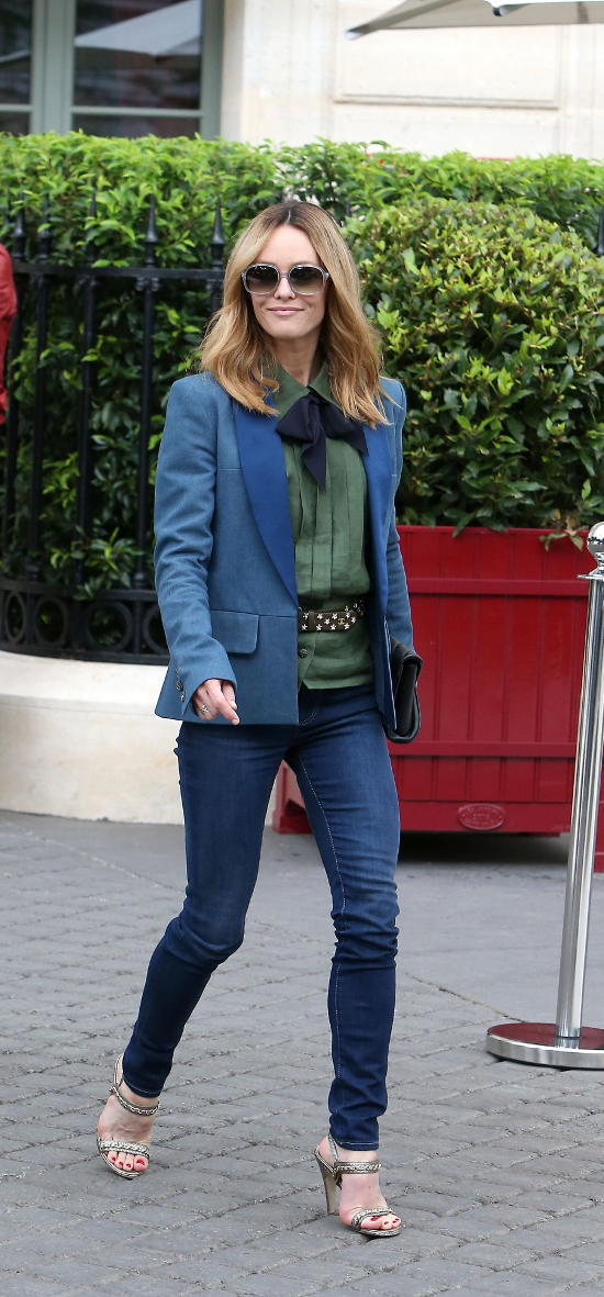 Vanessa Paradis Attends the Chanel Lunch