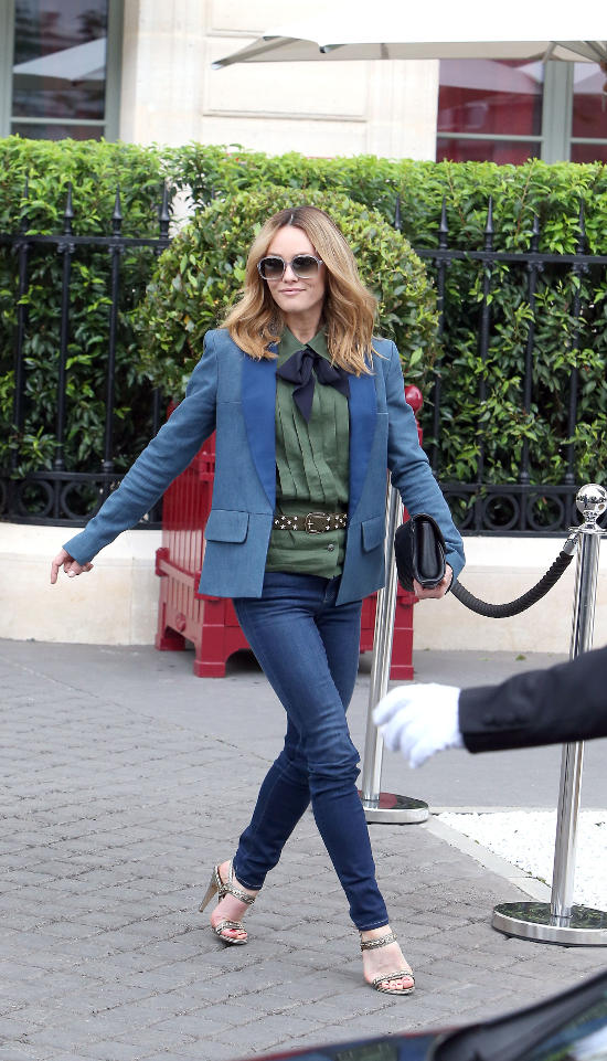 Vanessa Paradis in Paris