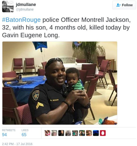 police Officer killed by Gavin Eugene