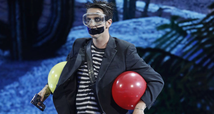 Americas Got Talent Contestant Tape Face