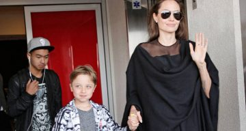 Angelina Jolie Arrives in Los Angeles After a Trip To New York With Maddox and Knox