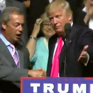 EUA: Líder del Brexit participa con Trump en mitin