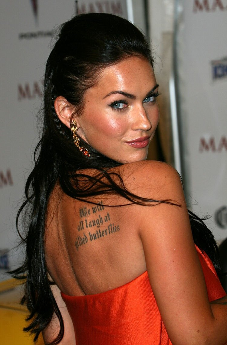 Megan fox Backless with Tattoo