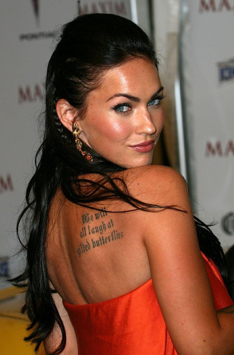 Megan fox Backless with Tattoo