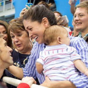 Nicole Johnson, Michael Phelps & baby, Boomer