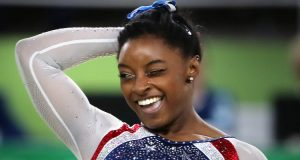 Simone Biles Falls Off Balance Beam