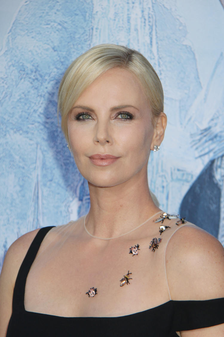 charlize theron hot braless