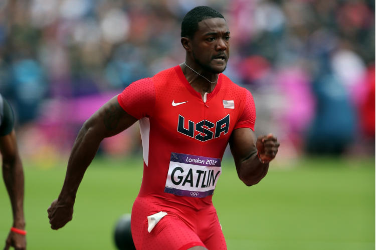 Why was justin gatlin suspended