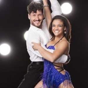 Laurie Hernandez and Val Chmerkovskiy on Dancing With the Stars