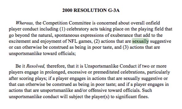 NFL Rule Clause
