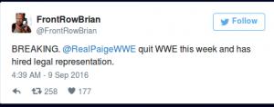 Paige Quit WWE