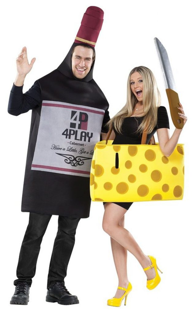 Cheese and Wine Halloween Costume