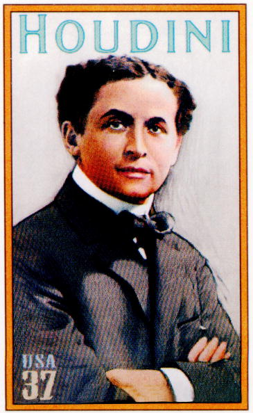 Harry Houdini Stamp 1911 poster