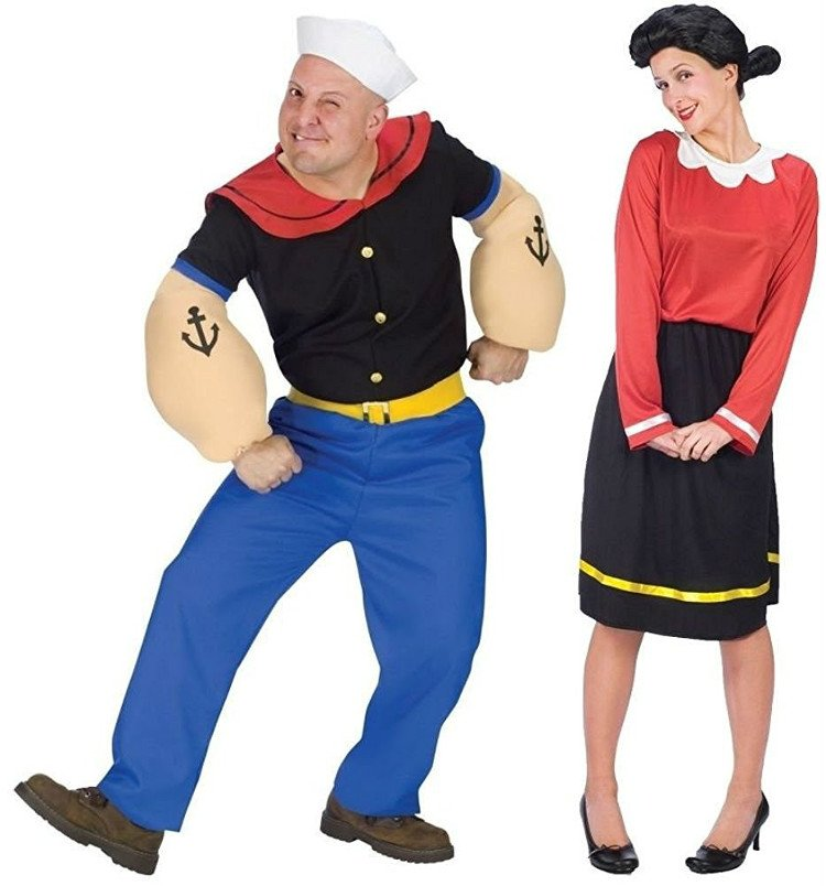 Popeye and Olive Oyl Halloween Costume