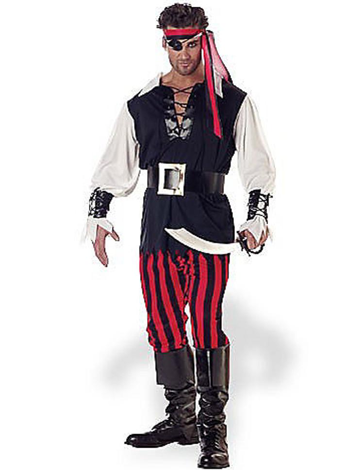 adult cut throat pirate halloween costume