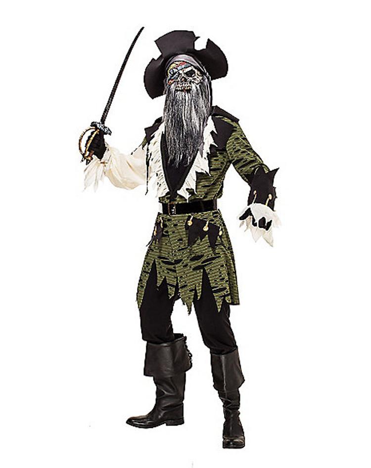 adult zombie pirate halloween costume