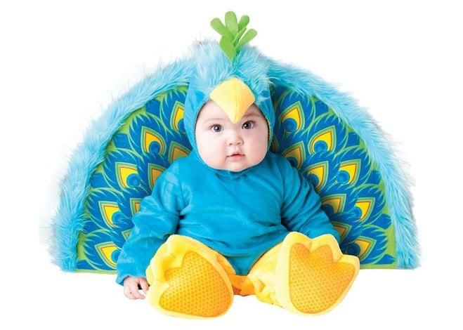 baby precious halloween peacock costume