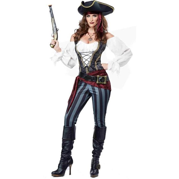 brazen buccaneer pirate adult costume
