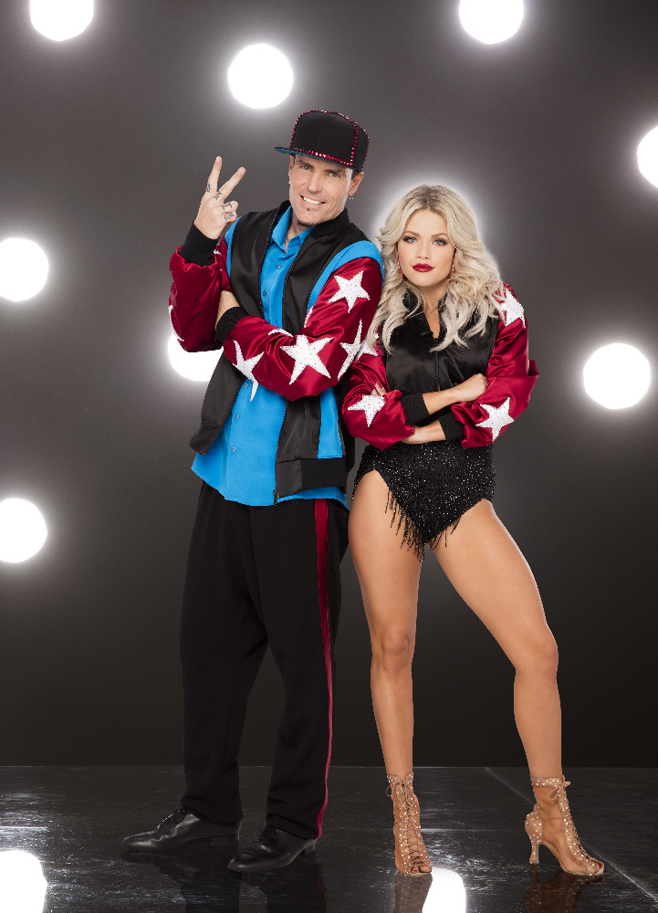 "DANCING WITH THE STARS - VANILLA ICE AND WITNEY CARSON - The stars grace the ballroom floor for the first time on live national television with their professional partners during the two-hour season premiere of ""Dancing with the Stars,"" which airs MONDAY, SEPTEMBER 12 (8:00-10:01 p.m., ET) on the ABC Television Network. (ABC/Craig Sjodin)"