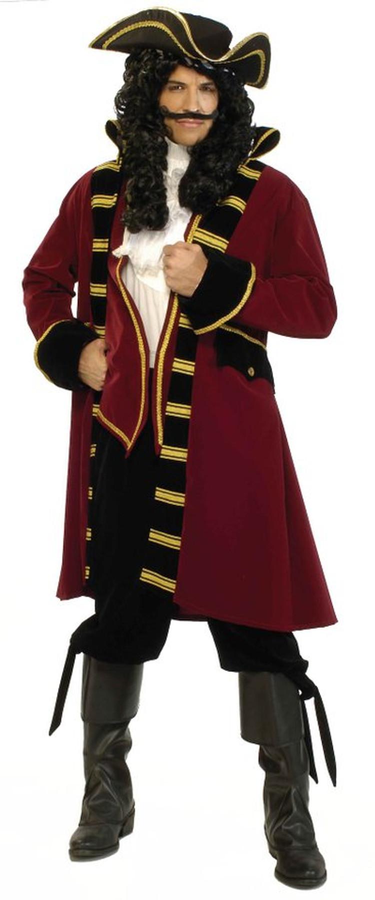 designer deluxe pirate captain halloween costume