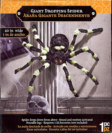 dropping spider halloween decoration
