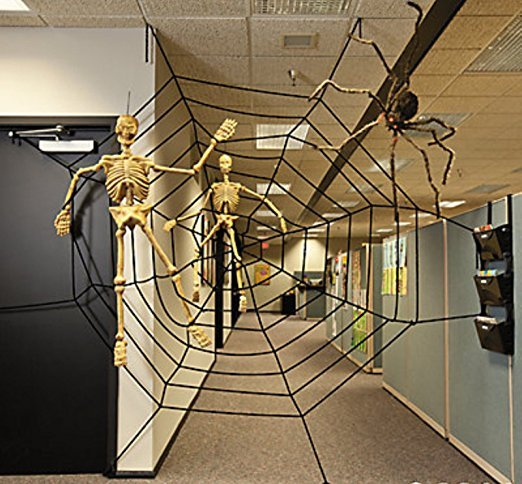 6 giant halloween party spider web