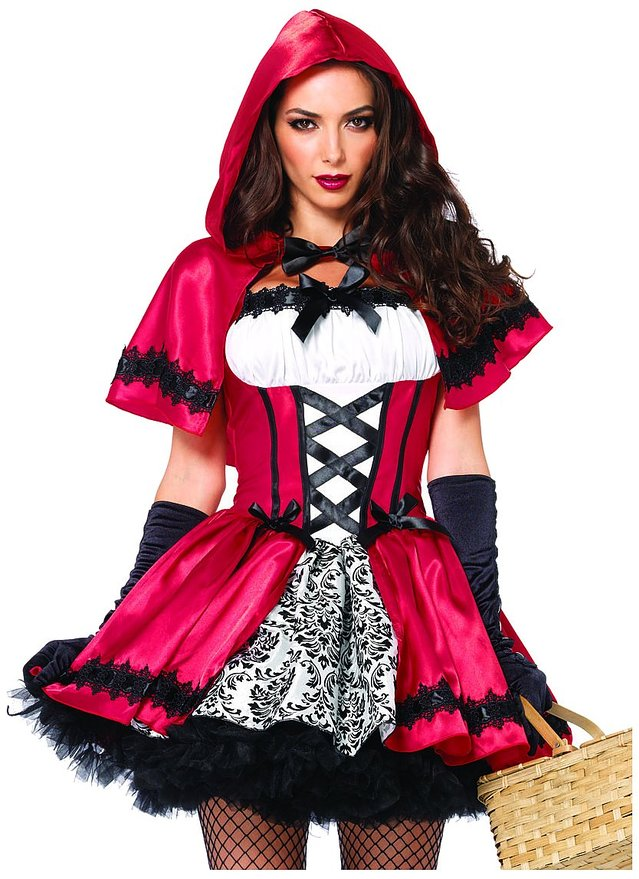 gothic red riding hood halloween costume