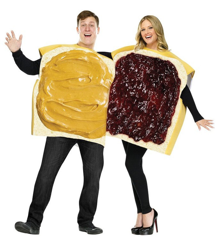 peanut butter and jelly set halloween costume
